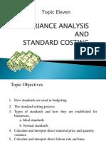 T11 Variance Analysis
