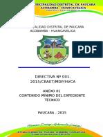 Estructura de Expediente Tecnico y Anexos Craet 2015