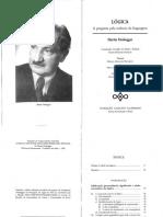 Lógica - A Pergunta Pela Essência Da Linguagem, Martin Heidegger