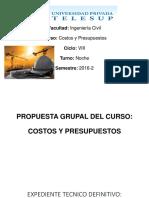 Trabajo 01-Costos y Presupuestos