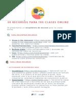 50 Recursos Para Tus Clases Online