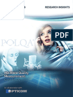 OPTICOM-HD Voice Case Study Metrico