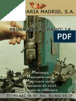 Catalogo de Maquinaria Madrid