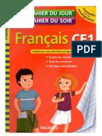 Français CE1 - Cahier Du Jour, Cahier Du Soir (7-8 Ans)