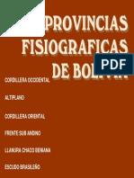 Provincias Fisiograficas de Bolivia