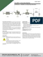 Dwyer - BBV-1 - Spec Sheet