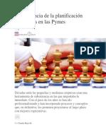 La relevancia de la planificación estratégica en las Pymes.docx