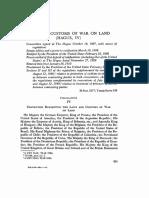 Laws of War 1907 Hague Treaty Article 55