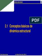 2.1 Conceptos Basicos de Dinamica Estructural