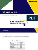 Dynamics GP Workflow (Flujo de Trabajo)