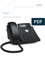 Snom D315 4-Line Gigabit Business IP/VoIP Phone