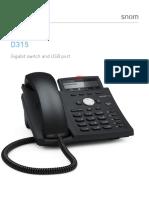 Snom D315 4-Line Gigabit Business IP/VoIP Phone