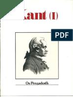 Kant, Crítica da Razão Pura, Pensadores (1978)
