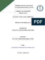 Proyecto Medio Ciclo Casanova Alcivar Myrka Geoconda Ecosistema y Educacion Ambiental
