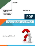 ppt PERSPEKTIF KANONIK