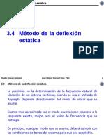 3.4 Metodo de La Deflexion Estatica