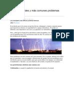 Los 5 Principales y Más Comunes Problemas Eléctricos