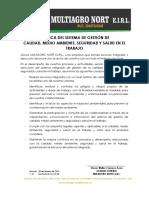 Multiagro-sg-do-02 Política Sig v.01 (28.02.18)