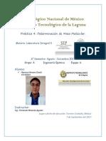 Laboratorio Integral 2.- Práctica 4.- Determinación de Masa Molecular
