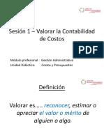 Sesion 1 - Valorar La Contabilidad de Costos