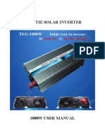Manual Grid Tie Inverter