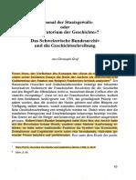 """Graf, Christoph - """"Arsenal Der Staatsgewalt"""" Oder """"Laboratorium Der Geschichte""""- Das Schweizerische Bundesarchiv Und Die Geschichtsschreibung"""
