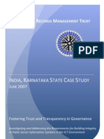 IRMT Case Study India Karnataka State