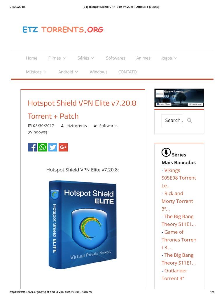 hotspot shield vpn elite 7.20.8 with crack 2018
