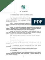 1 Lei 3196-78 - Estatudo Dos Policiais Militares Do ES