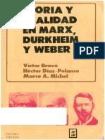 Diaz Polanco Teoria y Realidad en Marx Durkheim y Weber