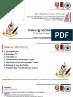 Teknologi Sediaan Solida_05 Evaluasi Sediaan Tablet
