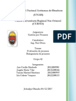 Informe Gestion de Procesos (Evaluacion de Procesos, Reingenieria de Procesos)