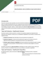 Tipos de Productos - Promonegocios.net