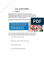 An Overview of ISO 45001