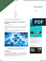 IPv4_ Qual a diferença entre Unicast, Broadcast e Multicast.pdf