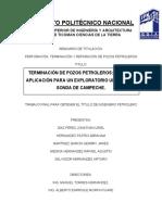 Terminación de Pozos Petroleros Caso de Aplicación Para Un Exploratorio Ubicado La Sonda de Campeche