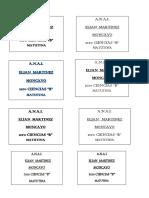 Membretes Ellian 1ero Ciencias b