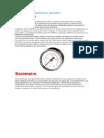 Diferencia Entre Manómetro y Barómetro