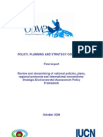Strategic Environmental Assessment Framework
