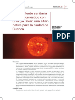 Agua Caliente Sanitaria de Uso Doméstico Con Energía Solar