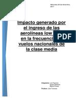 Investigacion de Mercado Aerlineas Low Cost 20 - 12 Se Puede Editar