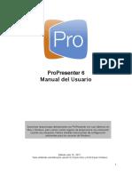 Pro6 Spanish Userguide