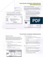 Power Teacher Gradebook.Getting Started.Quick Reference Card
