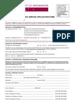 UG Study Abroad Application Form