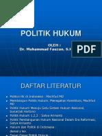 Politik Hukum a Xi Dr. m Fauzan
