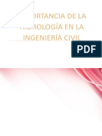 Importancia de La Hidrologia en La Ingenieria Civil
