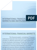 International Financial Markets and Instrunments