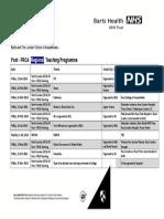 2016 Post FRCA Teaching