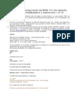 Instalación y Configuración de RHEL 5.5 con Apache, PHP, MySQL PhpMyAdmin y Subversion 1.6.12