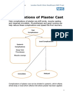 Complications of Plaster Cast PATIENT LEAFLET[1] (1)